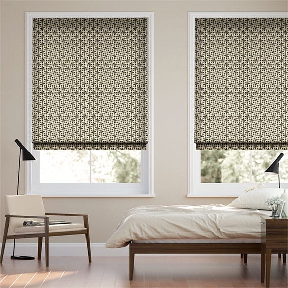 Woven Acorn Cup Charcoal Roman Blind